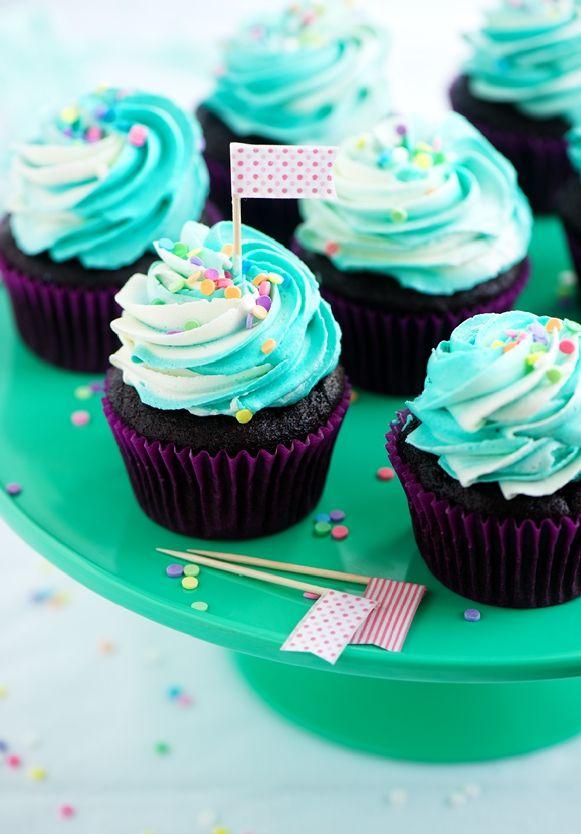 ... chocolate cupcakes. Use the weight measures & clean-up is a breeze