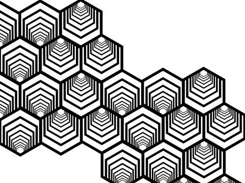 black and white heptagon