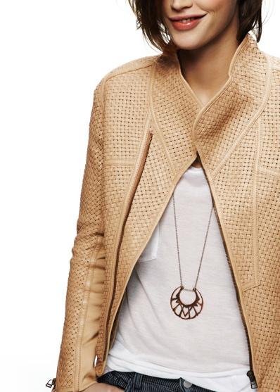 IMPROVD - Woven Leather Jacket | Fashion I Love | Pinterest
