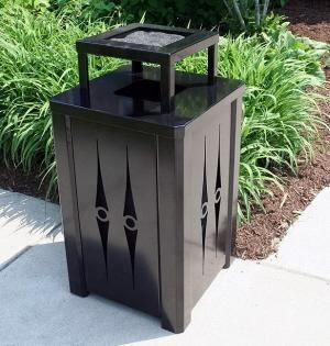 Outdoor Steel Garbage Can Decorative Trash Cans
