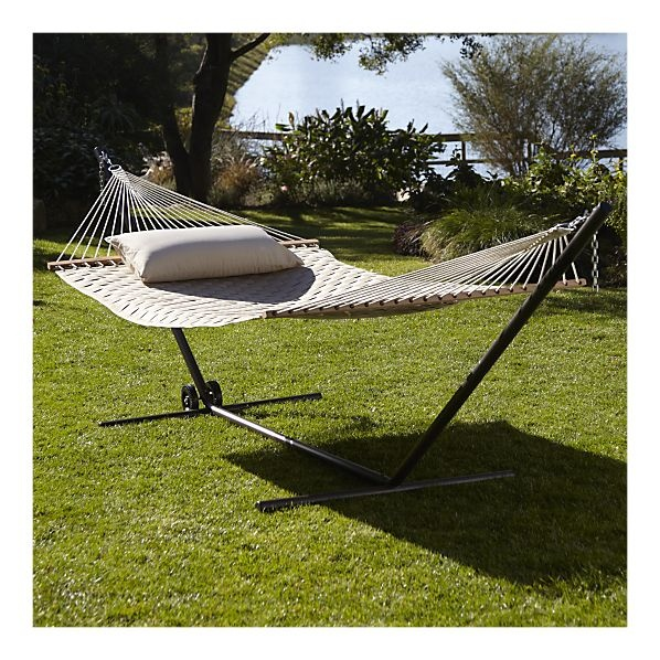 Best Backyard Hammock : Woven Hammock with Stand  Backyard Inspiration  Pinterest