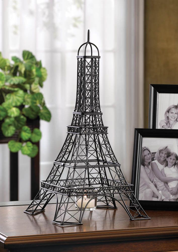 Eiffel Tower Candle Holder Parisian Style Centerpieces 15