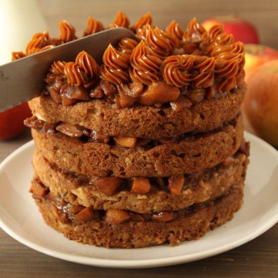 100% Whole Grain Apple Blondie Cake – Texanerin Baking