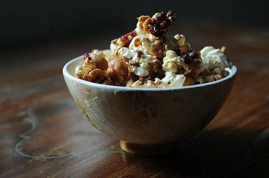 TIPSY MAPLE CORN POPCORN COATED IN JACK DANIELS-INFUSED SYRUP, PEANUTS ...