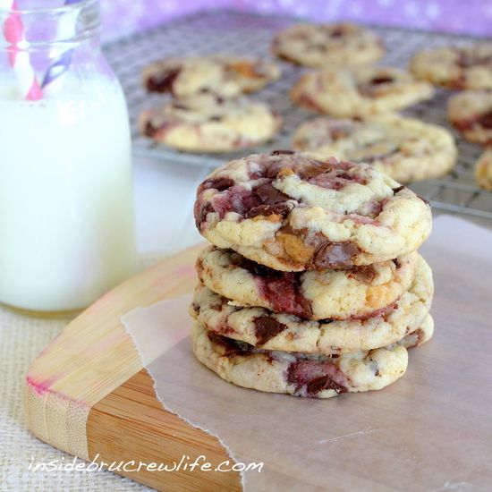 Peanut Butter and Jelly Cookies - cake mix cookies made with Reese's ...