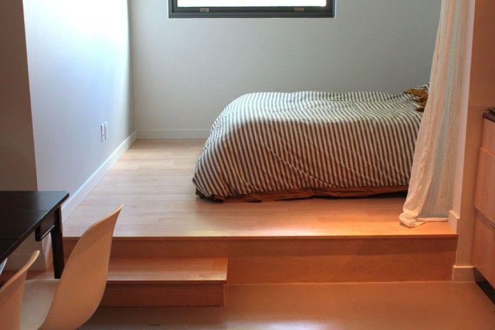 Raised bed platform house details pinterest for Raised platform bed