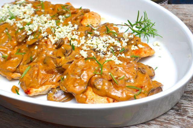 Healthy Jalapeno: Chicken with Marsala, Mushrooms and Gorgonzola