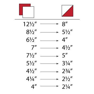 HST size chart