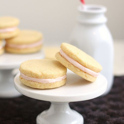 Pink Grapefruit Sandwich Cookies - By Tracey's Culinary Adventures