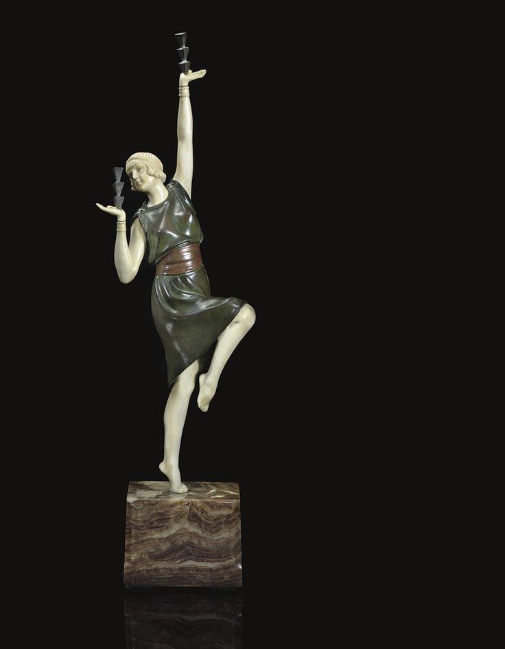 DEMETRE CHIPARUS - BALANCING ACT, CIRCA 1925