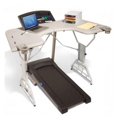 treadmill desk. yes!