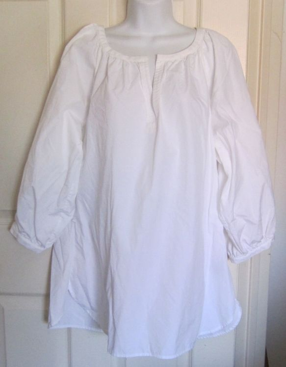 White Peasant Blouse Long Sleeve 35