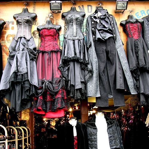 Dark clothing stores