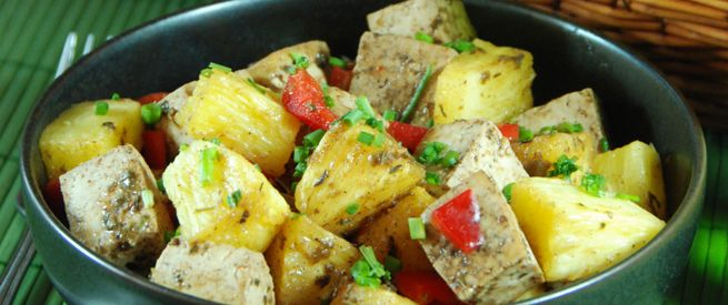 Stronger Together: Jerk Tofu with Pineapple
