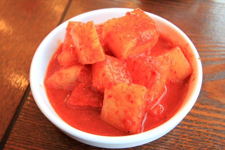 Kkakdugi (radish Kimchi) Recipe — Dishmaps
