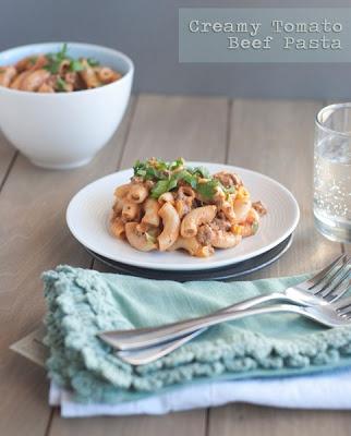 Creamy Tomato Beef Pasta | PASTA & RICE | Pinterest