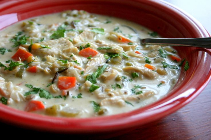 Creamy chicken and rice soup | soups | Pinterest