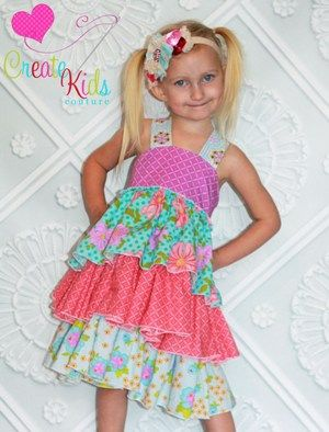 Boutique kid clothes sewing patterns