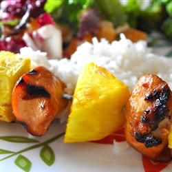 Hawaiian Chicken Kabobs Allrecipes.com