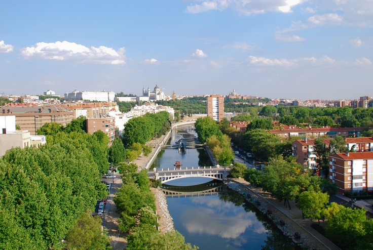 Madrid, Spain on a sunny day. | Cities From Above | Pinterest
