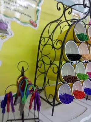 wine rack to hold markers