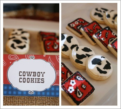 cowboy cookies | partys-1st comm, 1st bday, izzy's 8th | Pinterest