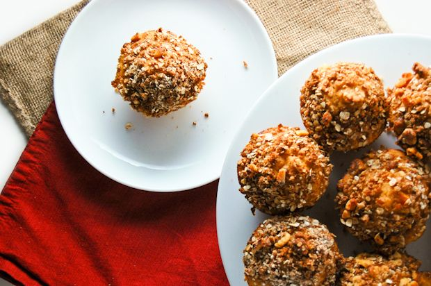 sweet potato and walnut streusel muffins; muffin base is incredibly ...