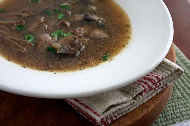 Hearty Pot Roast Mushroom Soup - #glutenfree and #dairyfree
