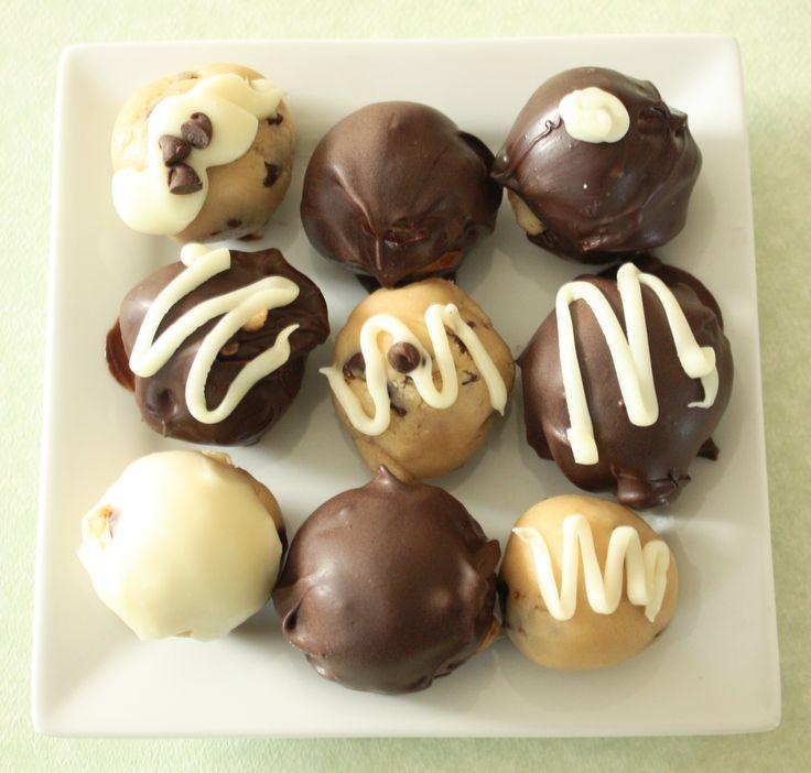 Chocolate Cookie Dough Truffles - Great recipe. Secret is to make sure ...