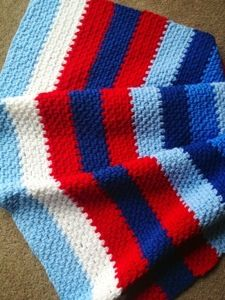 Striped Lace Baby Blanket - Free Crochet Pattern