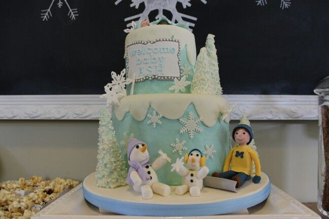 winter wonderland baby shower cake sweets by chan creations pinte