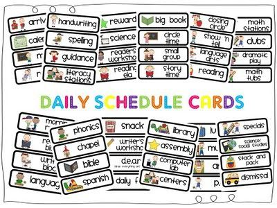Daily Schedule Template Autism – September printable calendars