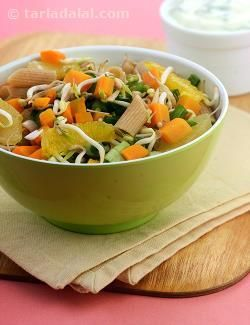 Sweet lime and orange with spring vegetables like capsicum and carrots ...