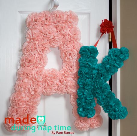 tissue paper letters