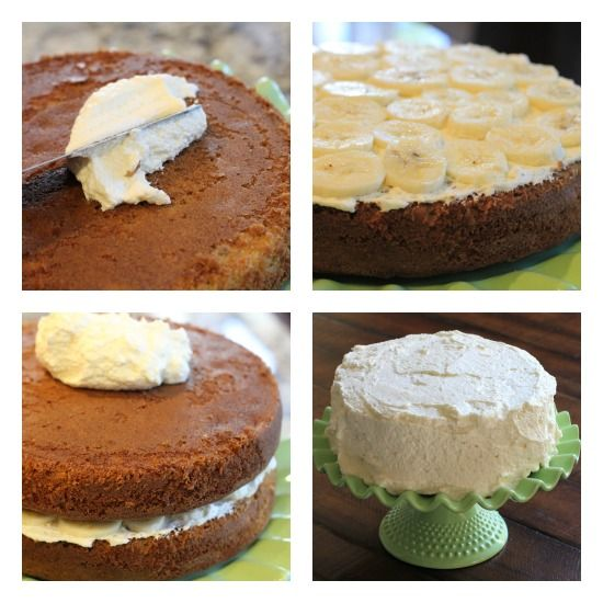 Double Layer Banana Cake   Cake/Frostings/Decorating   Pinterest