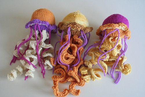 Knitting Pattern For Jellyfish : knitted jellyfish Knitting Pinterest