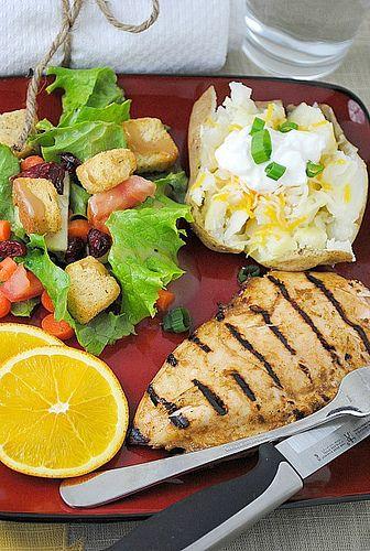 grilled orange chicken   You Made That? Blog Food   Pinterest
