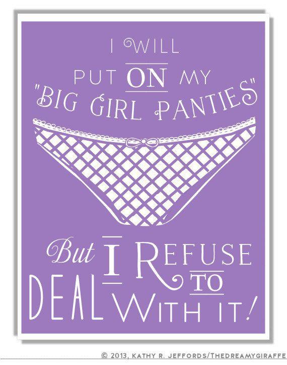 Girls Wearing Panties With Funny Sayings