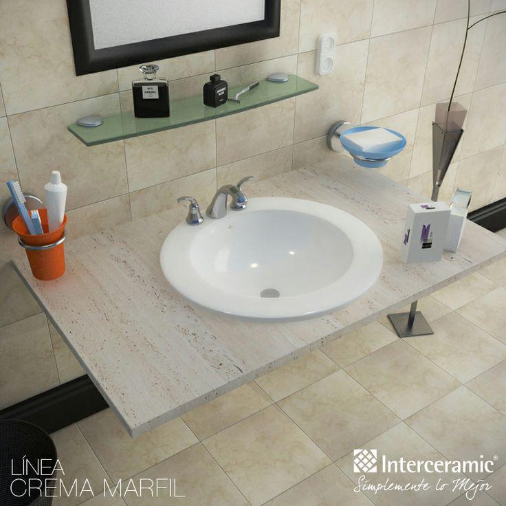 El lavabo tambi n es un elemento que determina la - Azulejos para aseos pequenos ...