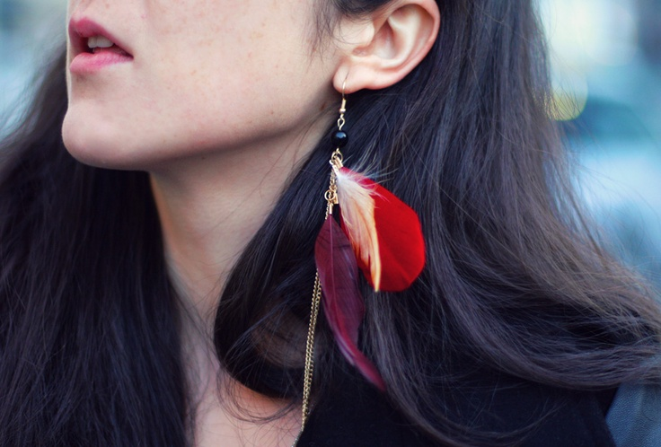 One feather earring trend caracteristicas