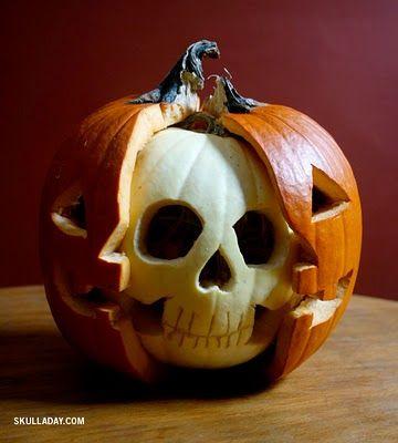 pumpkin inside a pumpkin!