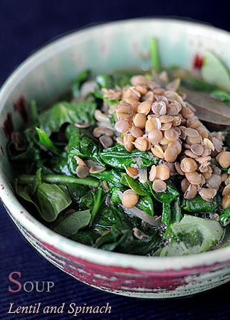 Spinach and lentil soup | Sandwich, Soup, Salad | Pinterest