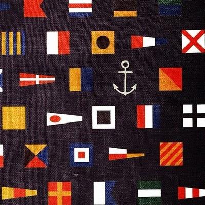 anchor flag and flagpole