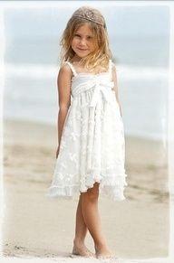 Beach wedding flower girl dresses wedding wishes for Flower girl dress for beach wedding