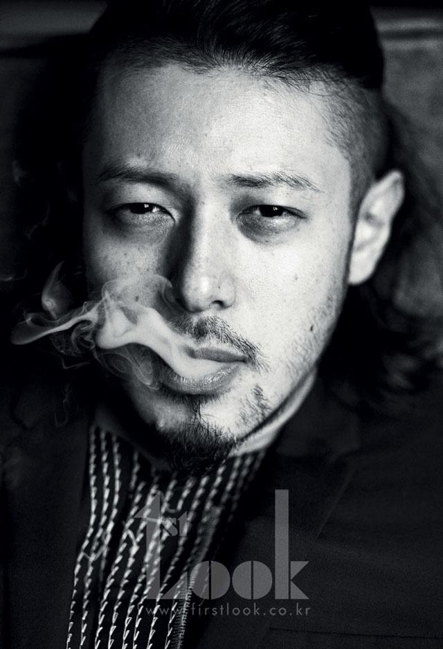 Joe Odagiri smoking a cigarette (or weed)