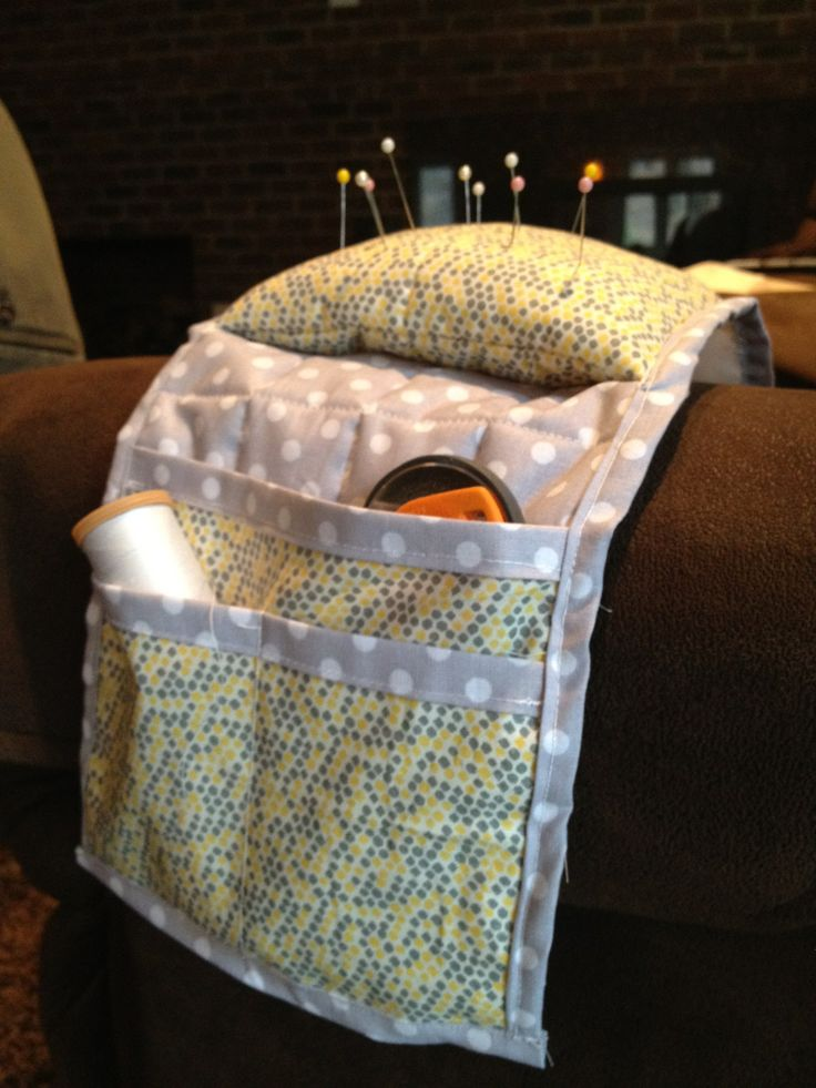 Arm Chair Caddy Pincushion Tutorial Cucito Pinterest