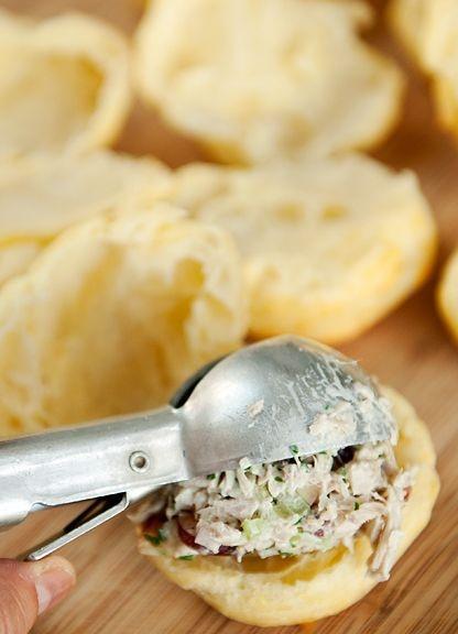 chicken salad puffs | Yummy Food! | Pinterest