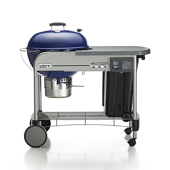 weber performer platinum charcoal grill blue. Black Bedroom Furniture Sets. Home Design Ideas