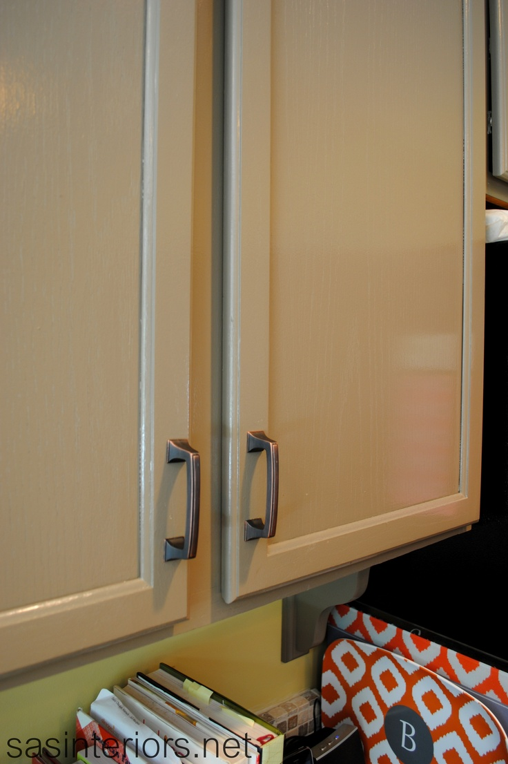 color that I used for the cabinets was Benjamin Moore Berkshire Beige