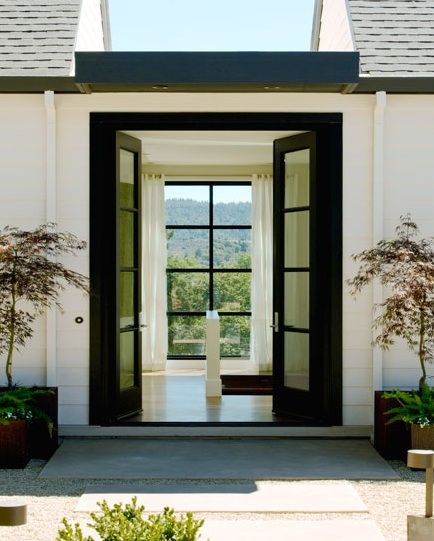 Modern french doors architecture pinterest for Modern french doors exterior